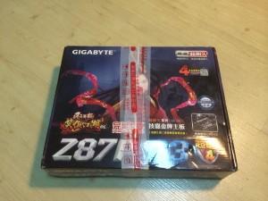 ちなみに宅配便で遅れられてきたときには、GIGABYTEの基盤の箱に収められて送られてきた。まぁ中国でガジェットを発注したときには良くあることです。